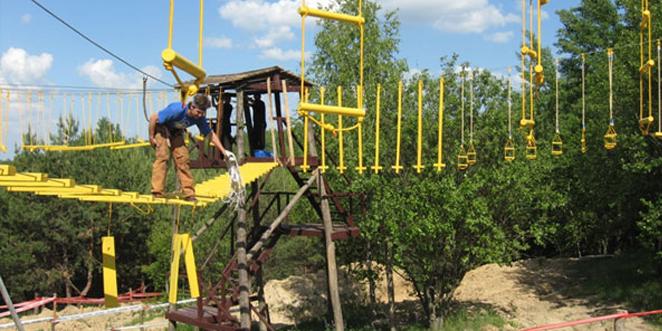 Парк Приключений  веревочный парк в Москве и Московской